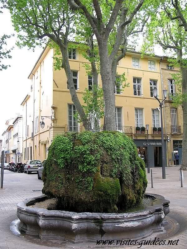 La fontaine moussue Aix en Provence