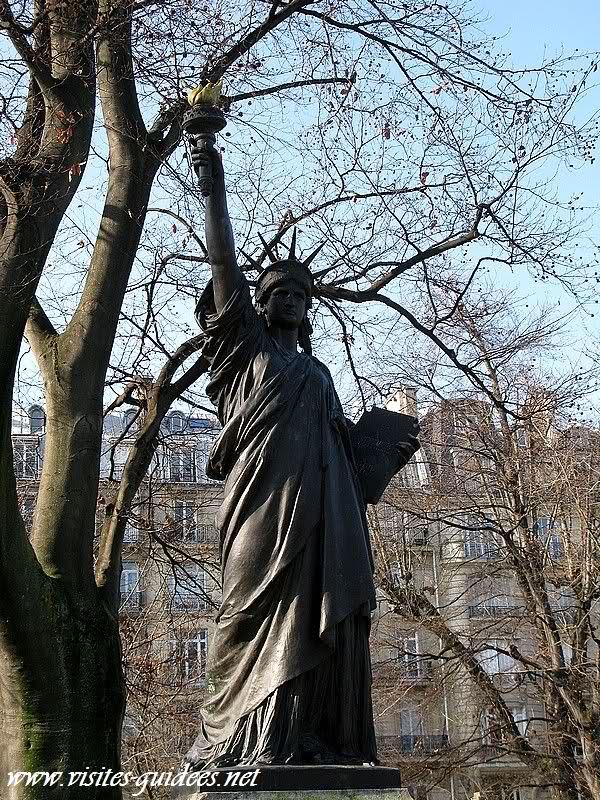 Statue de la Liberté jardin du Luxembourg