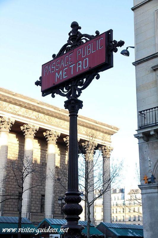 Station de métro La Madeleine Mât Nord-Sud
