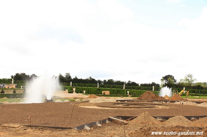 Restauration du parterre de Latone